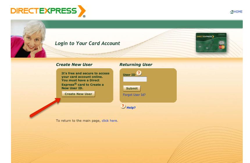 """Create a Direct Express card account"""
