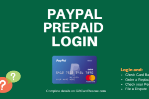 """How to Login to PayPal Prepaid Account"""