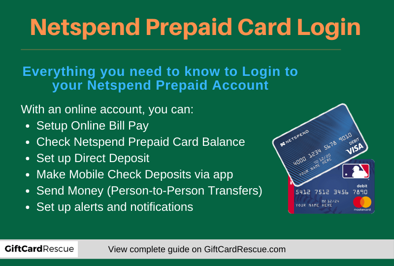 """Netspend Prepaid Card Login"""