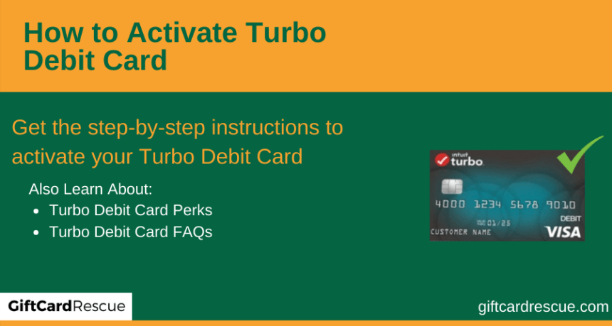 """How to Activate Turbo Debit Card"""