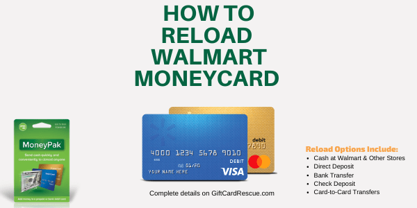 5 Ways to Reload Your Walmart MoneyCard - Gift Cards and Prepaid Cards