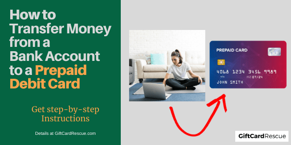 """Transfer Money from a Bank Account to a Prepaid Debit Card"""