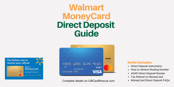 As an adult, managing your own team of professionals helps you build positive relationships t. Walmart Moneycard Direct Deposit How To Guide Giftcardrescue Com