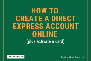 """Create Direct Express Account Online"""