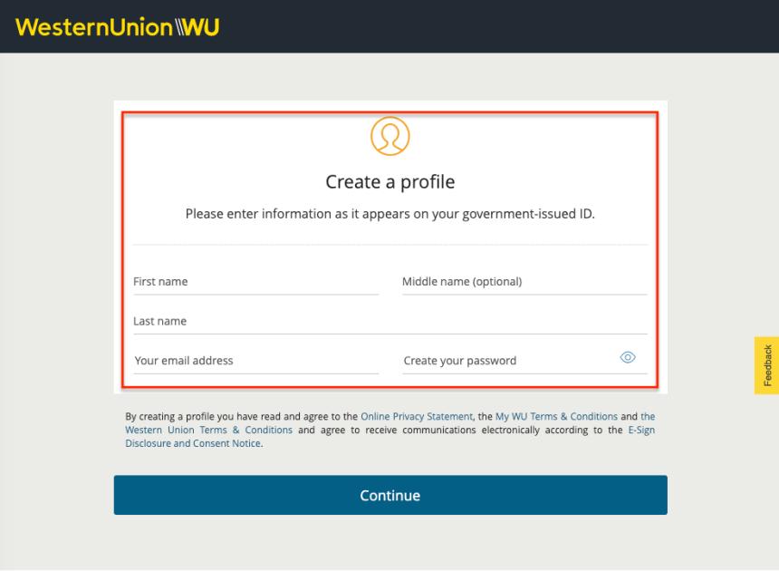"""Western Union Account Online - 2"""