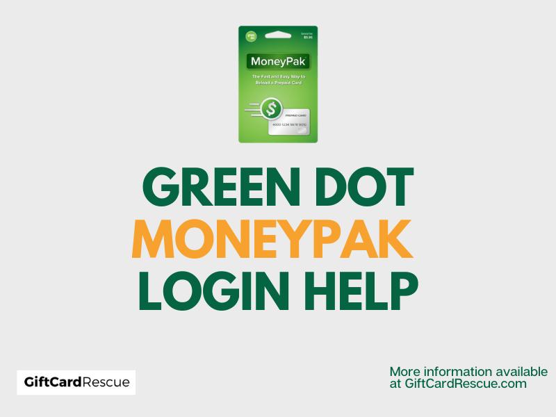 """Green Dot MoneyPak Login"""