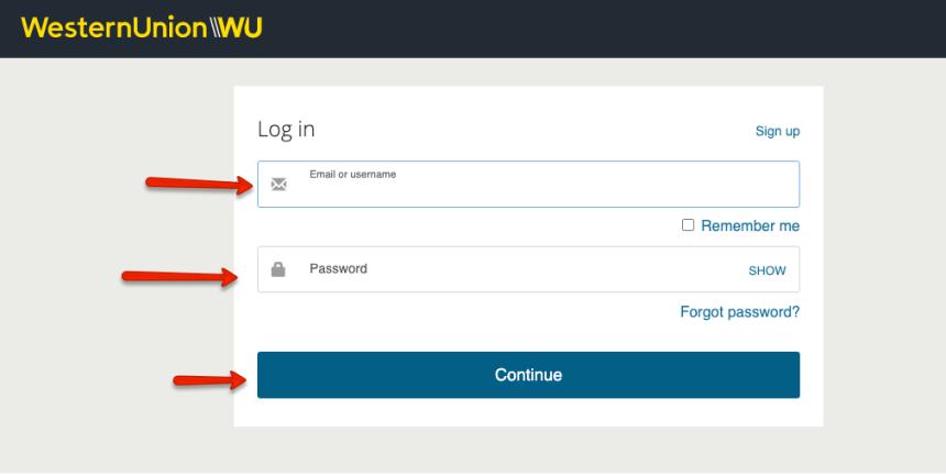"""""""Western Union Account Login Help - 1"""""""