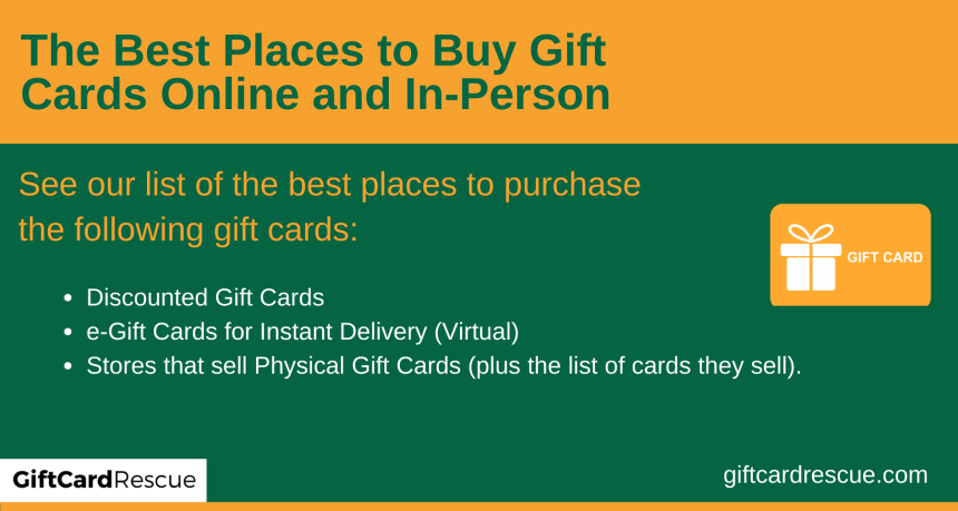 """""""Best place to buy gift cards online"""""""