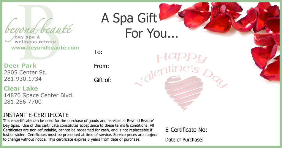 Valentine Gift Certificate Templates Gift Certificate