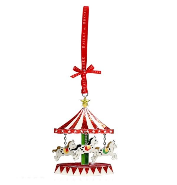 Decoratiune Craciun metalica in cutie eleganta-Carusel