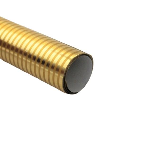 Hartie ambalat cadouri Metalizata Golden Stripes