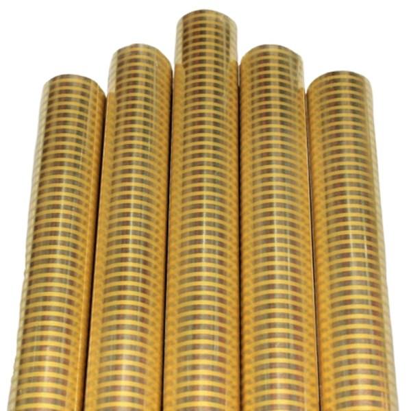 Set 5 bucati hartie ambalat cadouri Metalizata Golden Stripes