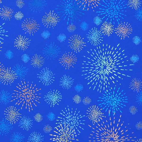 Hartie ambalat Craciun 150x70cm artificii albastru