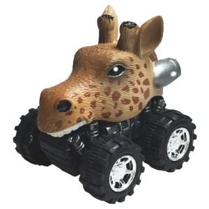 Mașinuță cu sistem friction girafa multicolor