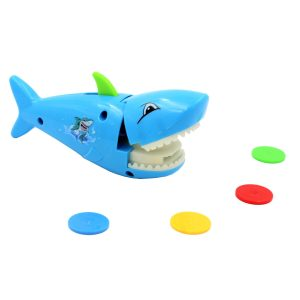 Jucarie catapulta rechin albastru lansator fise
