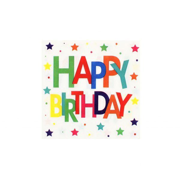 Servetele party 16buc. 33cm Happy birthday
