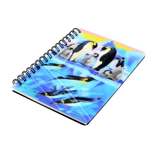 Carnetel zoo cu spirala 3D Penguin Plunge