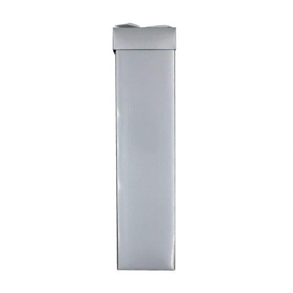 Cutie pliată băuturi argintiu 34x8x8 cm