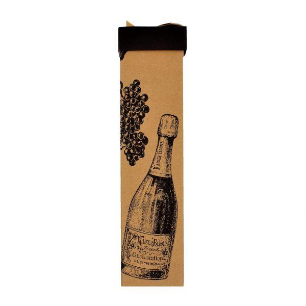 Cutie pliată băuturi kraft 34x8x8 cm