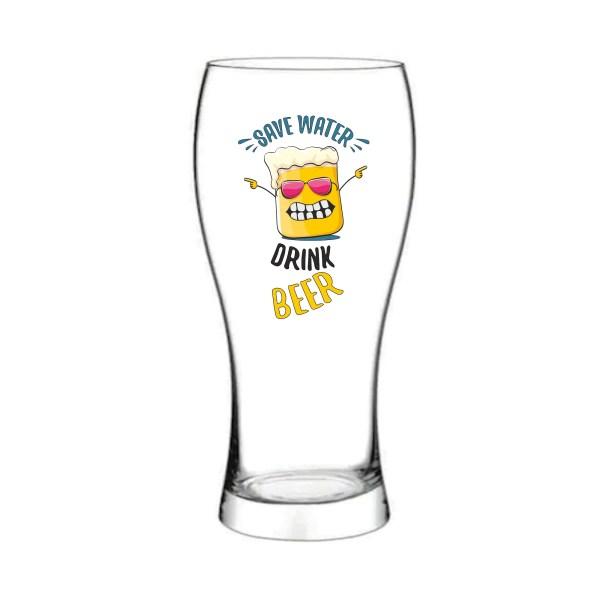 Pahar bere Save water drink beer