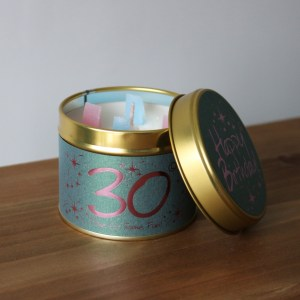 30 birthday scented candle image 1