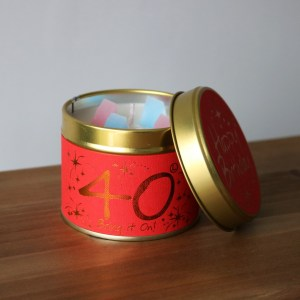 40 birthday scented candle image 1
