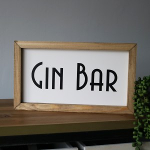 Gin bar wooden sign product image