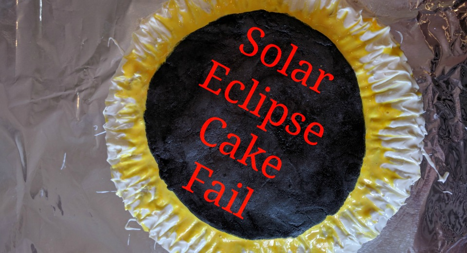 Creation of the Ugly Non-Glowing Too-Hot Solar Eclipse (Sunflower) Cake