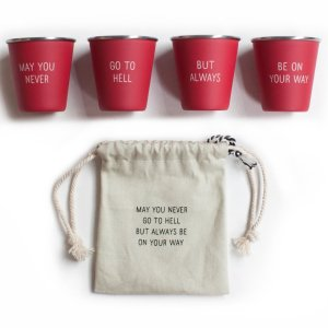 nested shot glasses hell stainless steel red shot glasses cups drinkware barware gifts gift gifting ideas fun may you never go to hell but always be on your way