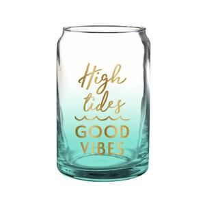High tides good vibes glassware drinkware gift gifting ideas gifts partyware mermaid teal ombre
