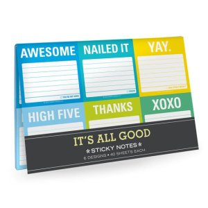 it's all good sticky note notepad notebook note taking writing organizing organization present presents gift gifts gifting ideas happy birthday congratulations
