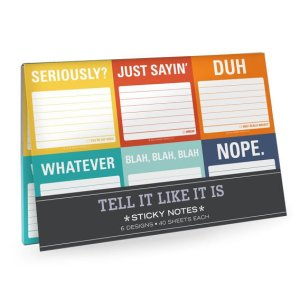 tell it like it is notepad notes note co-worker gift gifts gifting ideas present presents stay organized new year