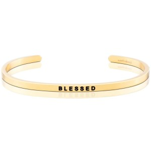 Express how blessed you are to have your friend in your life, or celebrate their blessings with this MantraBand. Sophisticated and durable, this bracelet is the perfect present for new chapters, birthdays, for a quick thank you. blessed bracelet gold silver bracelet jewelry mantraband fancy gifts for her