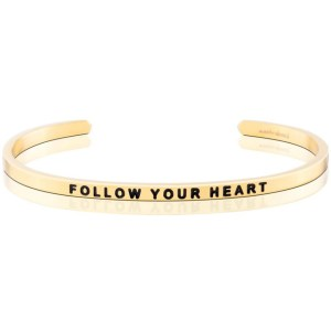 Empowering and supportive, this Mantra Band encourages your pal to stick to their gut and make their dreams a reality. A perfect momento to mark a new adventure. jewelry silver gold bracelet gifts for her