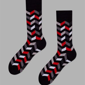 dress shoes dress socks work socks gifts for him father's day gifts A fun, zig-zag patterned pair of socks for your brother that is obsessed with top of the line accessories and has an eye for detail.
