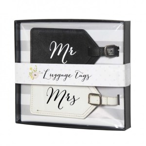 mr. mrs. luggage tags travel travels traveling fly flight flights flighting passport catching flights gifts for newly weds wedding bridal shower