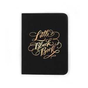 Antiquaria Little Black Book Pocket Jotter Notebook Perfect Gift for best friend for coworker or for cousin