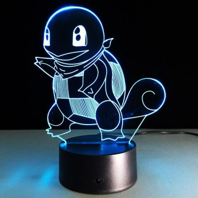 Squirtle Optical Illusion 7-Color LED Night Light