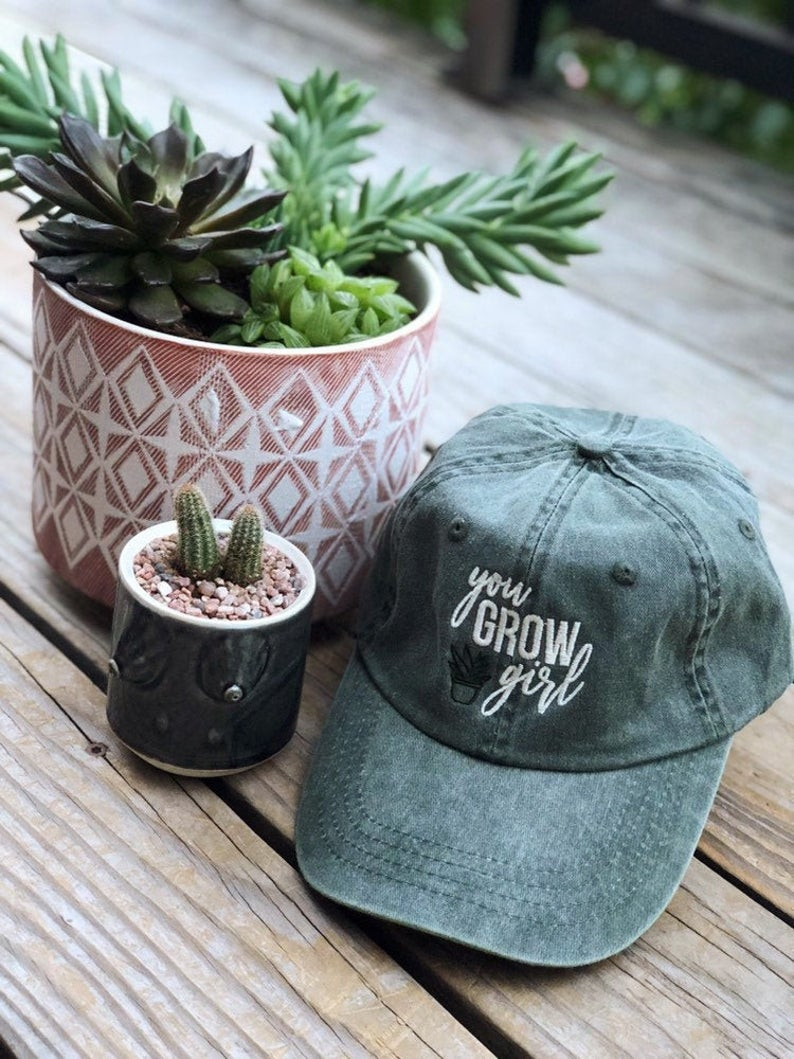 You Grow Girl Hat for Plant Lovers image 0