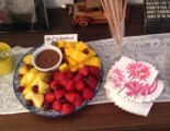 Fruit and chocolate fondue