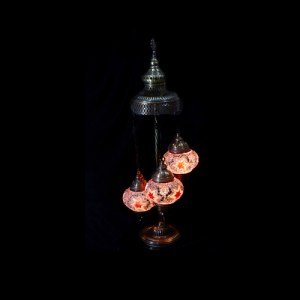 SPIRAL STANDING LAMP SETS OF 3 BALL SIZE