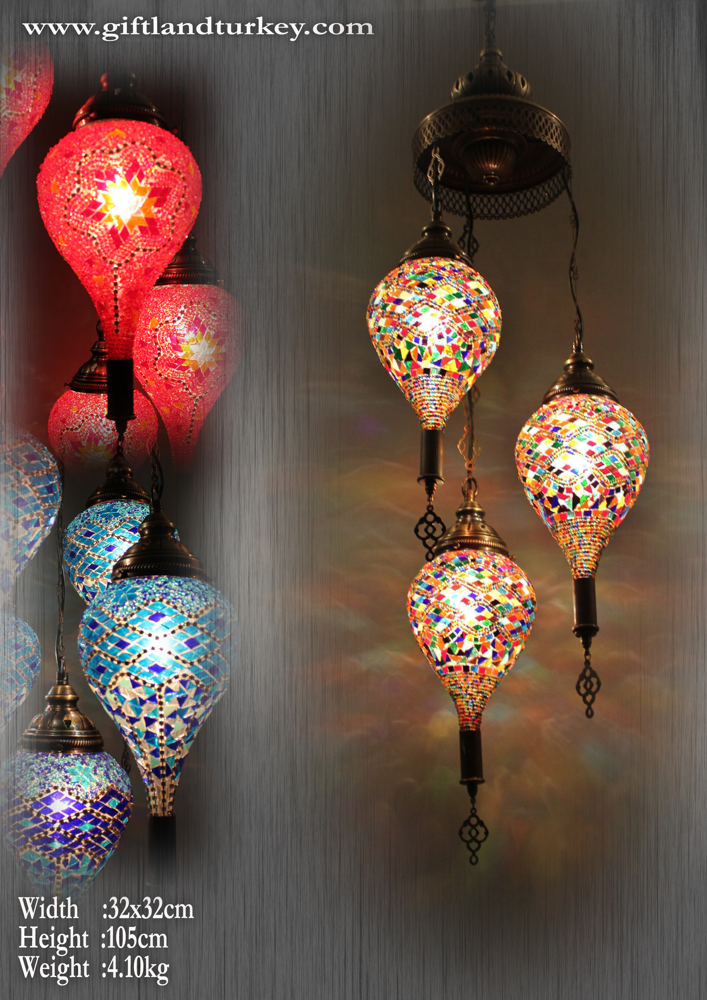 Handmade Drop Mosaic Light