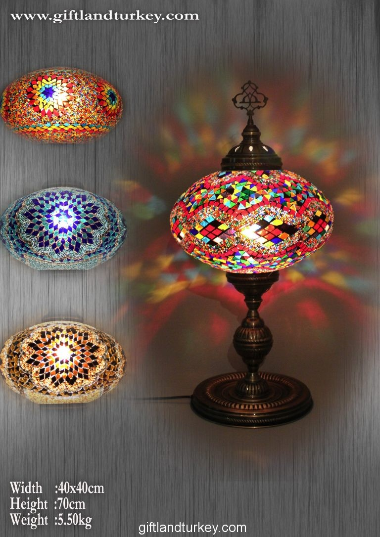 New Look of Tourists Turkish Mosaic Lamps  Handicrafts in tourist
