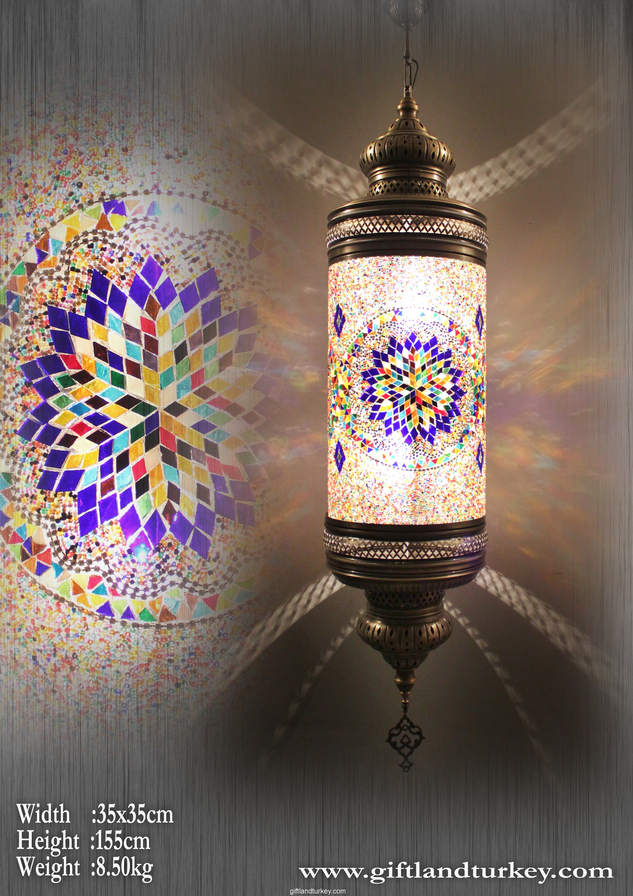 Cylindir Mosaic Light