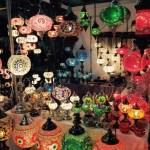 Mosaic Lamp Handmade Turkish Mosaic Glass Table Lamp Moroccan Lantern Light for Room Blue Red Lamp