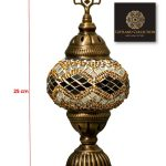 Turkish Table Lamp Size 1 Handmade Glass Lamp