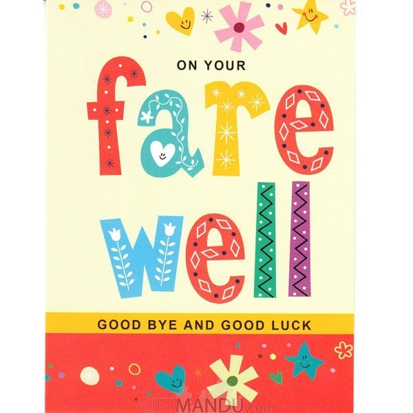 On Your Farewell Good Bye And Good Luck Greeting Card