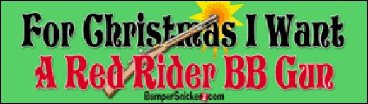 Red Rider BB Gun Bumper Sticker