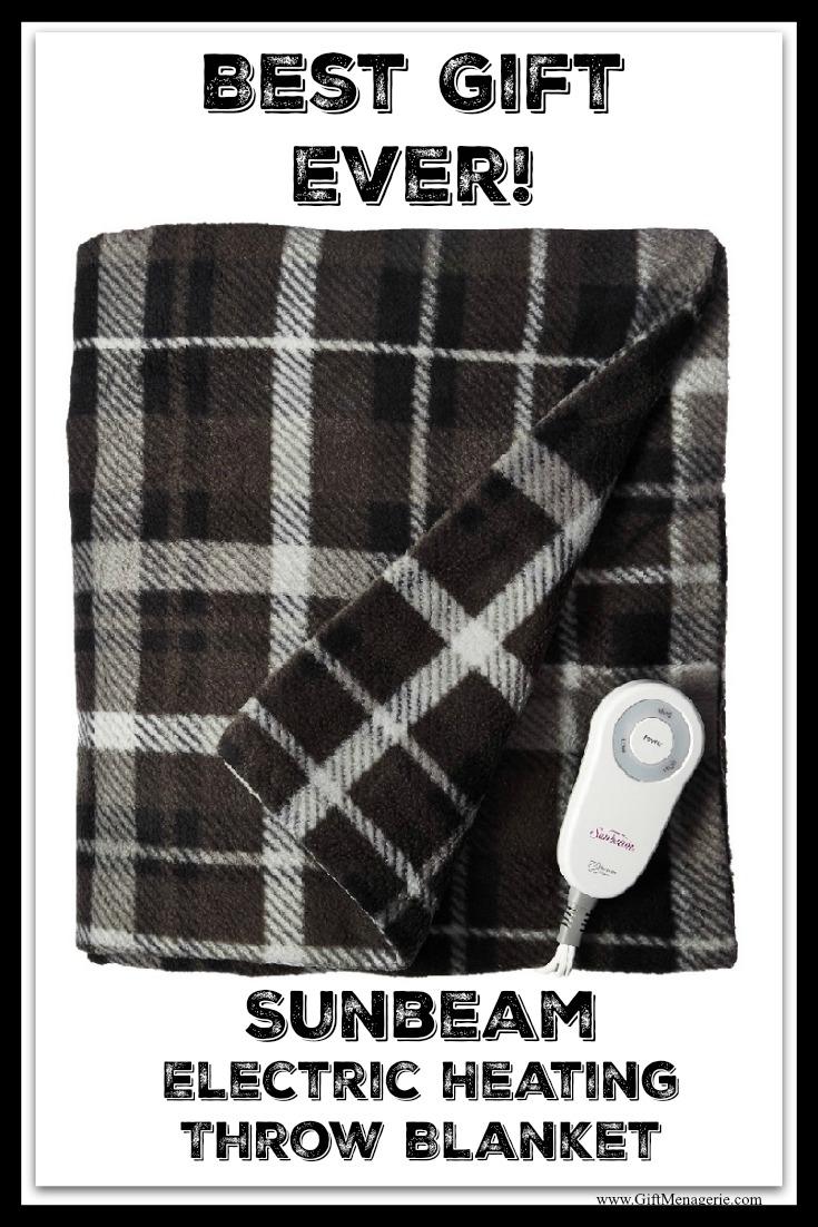 Sunbeam Electric Heated Throw Blanket Gift Menagerie