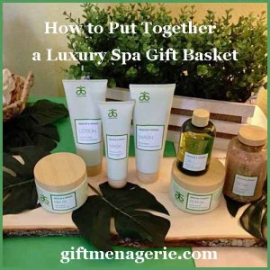 how to put together a luxury gift basket